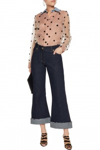 High-rise cropped flared jeans