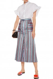 Striped jacquard culottes