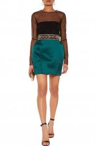 Satin-faille mini skirt