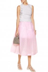 Pleated cloqué skirt