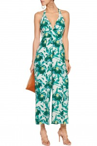 Shelby floral-print silk jumpsuit