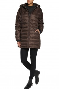 Camp hooded quilted shell jacket