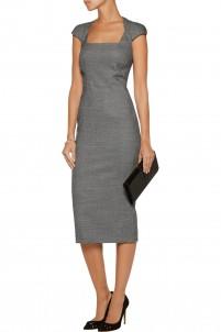 Wool-blend bouclé dress