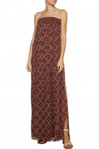 Sterling tasseled printed silk-georgette maxi dress