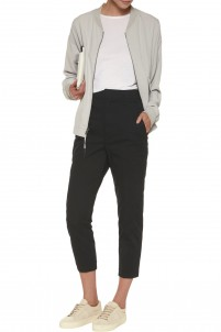 Cropped stretch-cotton twill tapered pants