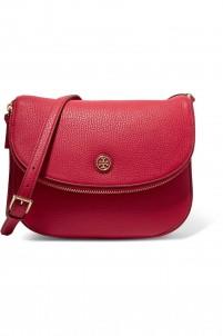 Robinson textured-leather shoulder bag