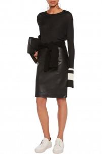 Brent leather skirt