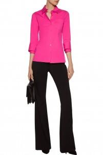 Cotton-blend poplin shirt