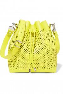Medium perforated leather shoulder bag