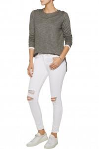 Capri mid-rise distressed skinny jeans