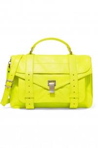 PS1 Medium neon leather shoulder bag