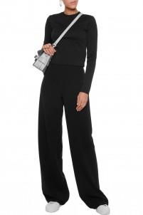 Thalia textured stretch-knit top