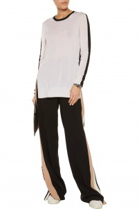 Verity two-tone cashmere sweater