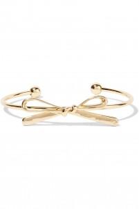 Bow-embellished gold-tone cuff