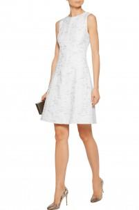 Metallic cotton-tweed dress
