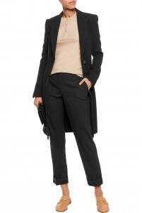 Man wool-crepe coat