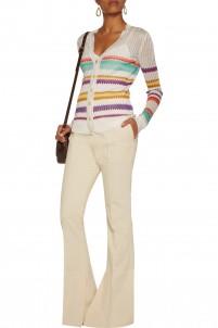 Crochet-knit cardigan