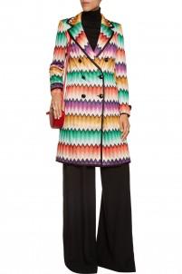 Crochet-knit coat