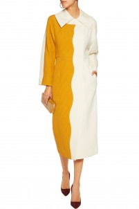 Holly two-tone woven coat