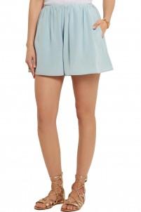 Jackie silk-chiffon shorts