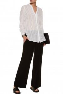 Striped cotton-gauze shirt