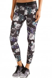 Floral-print stretch-jersey leggings
