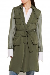Blaine silk-georgette coat