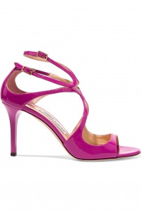 Ivette patent-leather sandals