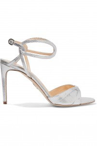 Efezo metallic textured-leather sandals
