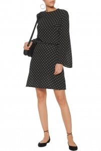 Mischief polka-dot crepe mini dress