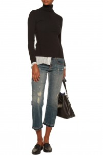 Low-rise slim boyfriend jeans
