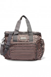 Striped shell tote
