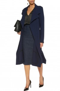 Riderhood wool-crepe coat