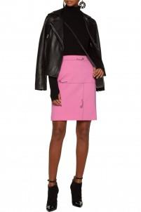 Printed stretch-jersey skirt