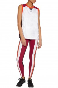 Kea paneled stretch-knit and stretch-jersey leggings