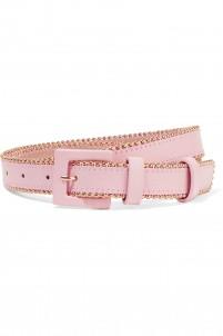 Studded leather waist belt