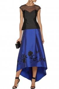 Salma embellished satin-twill maxi skirt