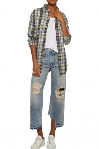Camille cropped distressed boyfriend jeans