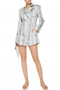 Havoc striped cotton and silk-blend canvas playsuit