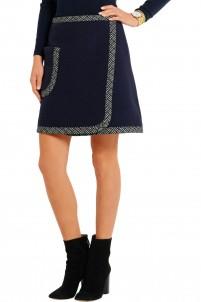 Wool-blend mini skirt