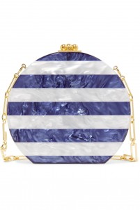 Oscsar striped acrylic clutch