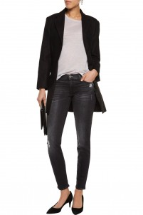 The Skinny mid-rise distressed jeans