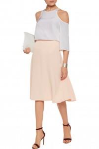 Nadege stretch-crepe skirt