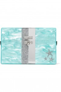 Stars and Stripes small glittered acrylic box clutch
