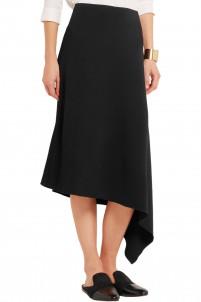 Ava asymmetric stretch-crepe skirt