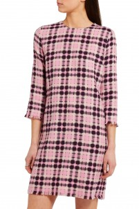 Open-weave cotton-tweed mini dress