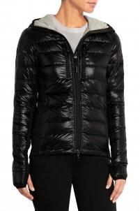Hybridge Lite hooded quilted down jacket
