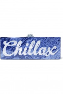 Flavia Chillax acrylic box clutch