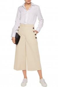 Cotton-blend culottes