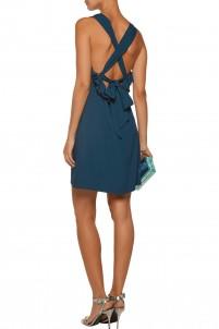 Eden cutout ruffled crepe mini dress